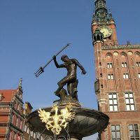 Gdańsk Fotanna Neptuna bez praw autorskich